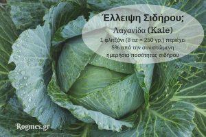 Kale για έλλειψη σιδήρου