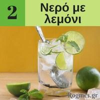 Υγιεινά ροφήματα - Νερό με λεμόνι