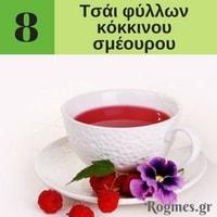 Υγιεινά ροφήματα - Τσάι φύλλων κόκκινου σμέουρου