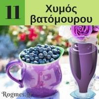 Υγιεινά ροφήματα - Χυμός βατόμουρου