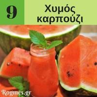 Υγιεινά ροφήματα - Χυμός καρπούζι
