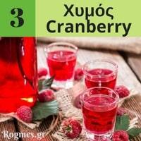 Υγιεινά ροφήματα - Χυμός Cranberry