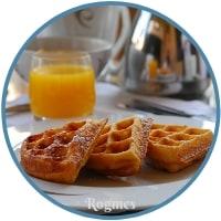 Υγιεινό πρωινό - Βάφλες