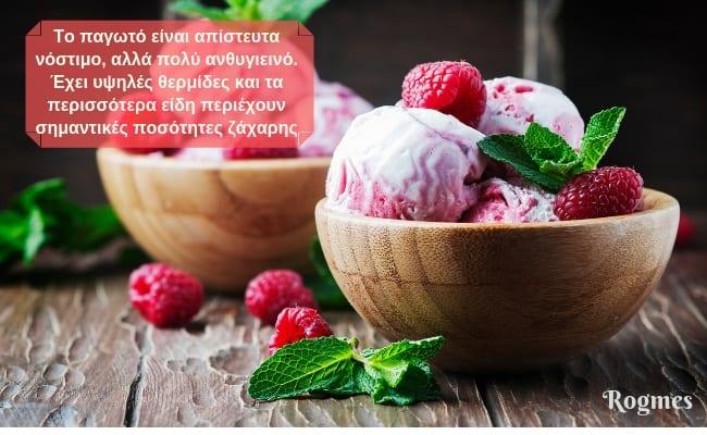 Παγωτό για κιλά και λίπος