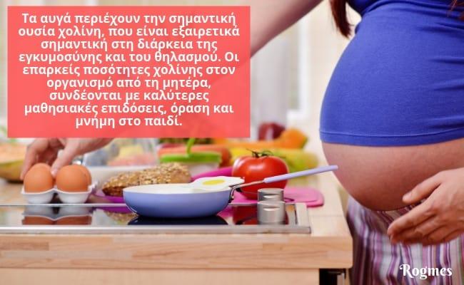 Αυγά στην εγκυμοσύνη